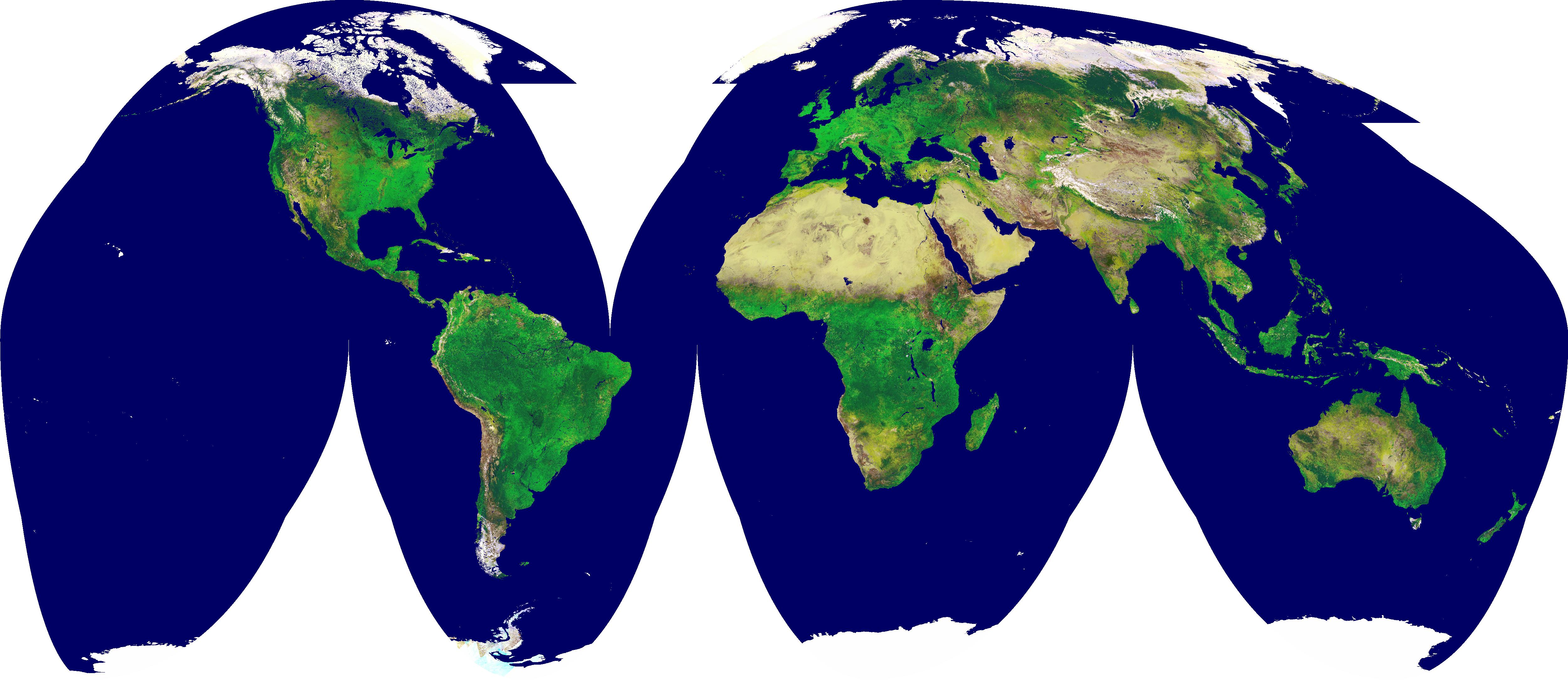 True size of continents and countries satellite video